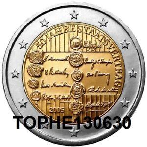 """AUTRICHE COMMÉMORATIVE 2005 """"TRAITE D'ETAT"""" 2 EURO UNC"""