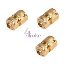 "3pk Brass Auto Water Stop Hose Connector Female Quick Fit To 1/2"" Compression"