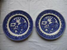 Vintage Alfred Meakin: OLD WILLOW  Dinner Plates x 2 Diameter 25 cm