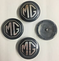 MG ZS LE500 Style Alloy Wheel Centre Caps Badges Black Silver 80mm Badge