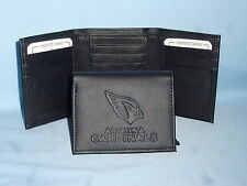 ARIZONA CARDINALS   Leather TriFold Wallet    NEW    black 3  m3