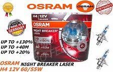 COPPIA LAMPADE OSRAM NIGHT BREAKER LASER H4 12V 60/55W +130% LUCE 64193NBL-HCB