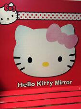NEW Boxed bundle HELLO KITTY HEAD SHAPE ACRYLIC SELF ADHESIVE MIRROR x 6