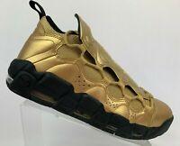Nike Air More Money Uptempo Metallic Gold Black Shoes AJ2998-700 Sz 9.5