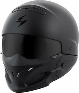 OPEN BOX SPECIAL - Scorpion Exo Covert Flat Matte Black CONVERTIBLE HELMET