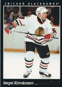 #419 Sergei Krivokrasov - Chicago Blackhawks - 1993-94 Pinnacle Hockey