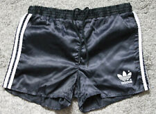 Original Adidas Sprinter Shorts 80/90er Vintage Glanz Nylon Shiny Schwarz S/M