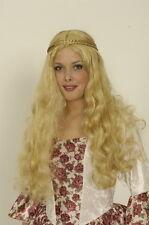 Perruque de femme médiévale blonde Princesse costume spectacle show deguisement