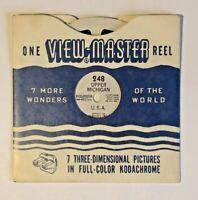 View-Master Reel #248 - Upper Michigan - Vintage c 1949 (See scans!)