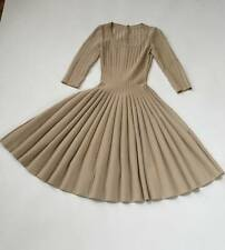 AZZEDINE ALAIA FIT & FLARE PLEATED DRESS sz X-SMALL MSRP $3,995
