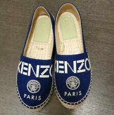 KENZO Espadrille Navy Shoes Size 35 Embroidered Tiger