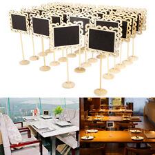 24 Rustic Mini Frame Blackboard Chalkboard Place Card Holder Wedding Table Name