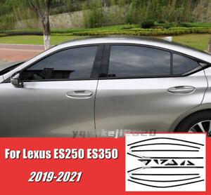 For 2019-2021 Lexus ES250 ES350 350H Black Stainless Car Window Cover Trim Strip