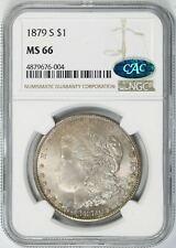 1879-S Morgan Silver Dollar $1 NGC CAC MS66