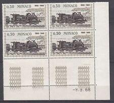 TIMBRE BLOC DE 4 COIN DATE MONACO NEUF N° 753 ** LOCOMOTIVES PLM C220 1898