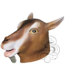 Latex GOAT - BROWN farm Animal Head Party Halloween Prop Fun Photography Mask