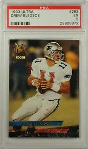 1993 Fleer Ultra Drew Bledsoe Rookie New England Patriots Card #283 PSA EX 5 CK