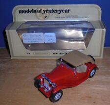 Matchbox Yesteryear Y8 MG TC Darker Red with Tan Seats Issue 15A