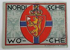 LUBECK NOTGELD 50 PFENNIG 1921 *NORGE KROWN* EMERGENCY MONEY GERMANY (5248)