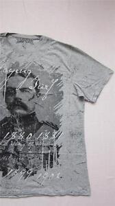 New Simply Be COOL Mens History War Print T-Shirt Size 2XL XXL Grey Top