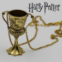 Hufflepuff Cup Pendant Necklace Harry Potter Horcrux Cosplay with Gift Bag