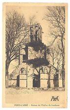 CPA 29 - PONT L'ABBE (Finistère) - Ruines de l'Eglise de Lambour