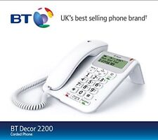 BT Decor 2200 Corded Telephone with Caller Display Handsfree & 1571 Button white