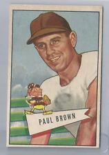 1952 Bowman Large Football Paul Brown Card # 14 Near Mint Condition Set Break