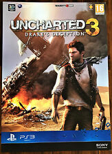 Uncharted 3 Drake's Deception PS3 Official Video Game Promo Poster 43x60cm #1
