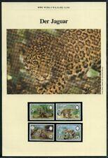 Belize 1983 WWF komplettes Kapitel postfrisch MK FDC Jaguar (WW20