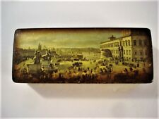 Antique Mottahedeh Italian Painted Lacquer Decorative Stamp Box