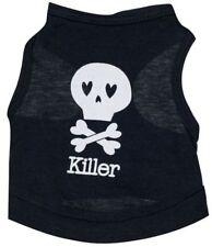 Cotton Pet Vest KILLER Skull & Bones USA SELLER Jacket Sz Small Cat Dog Clothes