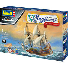 Revell Mayflower Ship 400th Anniversary Model Kit 1:83 Inc Paint, Glue and Brush