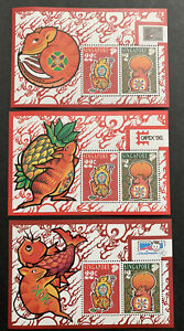 Singapore Stamp 1996 Year of RAT Zodiac,Expo (China,Capex,Indonesia)3 S/S MNH OG