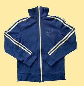 Adidas True Vintage Trainingsanzug 164 XS S Blau 70s 80s Trefoil Drei Streifen