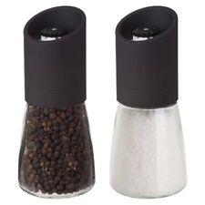 "Trudeau Maison 6"" Oslo No Mess Salt & Pepper Mill / Grinder Set - Black"