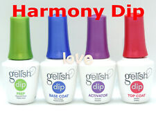 Harmony GELISH DIP Nail Dipping Powder Essentials Prep Base Activator Top/ Any*