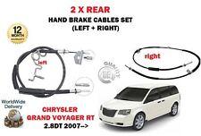 Pour Chrysler Grand Voyager 2.8 TD 2007 - > 2X Arrière Gauche Droite Câble de frein Set