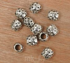 wholesale 10-100pcs alloy Tibetan silver big hole flowe  spacer beads 9x9.5  mm