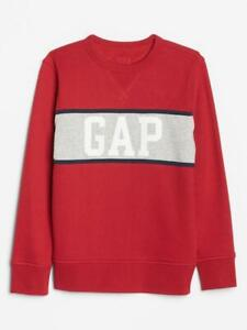 Bnew Kids Gap Logo Colorblock Sweatshirt, Lasalle red, Medium (8-9y.o)
