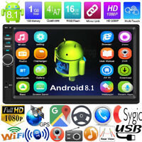 """7"""" 2Din Android 8.1 Quad Core GPS Navi WiFi Car Stereo MP5 Player FM Radio AUX"""