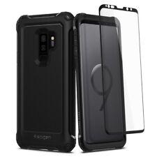 Spigen Pro Guard Schutzhülle Case mit Displayschutz für Galaxy S9 Plus schwarz