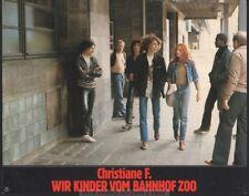 NATJA BRUNCKHORST - CHRISTIANE F WIR KINDER VOM BAHNHOF ZOO  * GERMAN LOBBY CARD