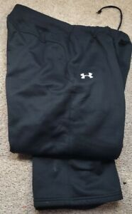 UNDER ARMOUR-Black Perform.Poly, Mens Cold Weather Warm.Up, Sweat Pants-(L)