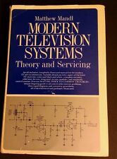Modern Television Systems Matthew Mandl Electronics TV Circuits 1974 VintageBook
