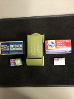 Vintage Plastic Match Box Holder Wall Mounted And 1979 Ohio Blue Tip Matches!