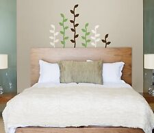Leaf Silhouette Wall Decals Leaves Brown Green white Room decor Stickers Ivy Vl