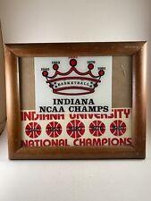 New listing Vintage Indiana University Hoosiers College Basketball IU Framed Stickers NCAA