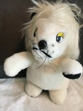"Superior Toy and Novelty Vtg 1960s ? Carnival Plush White Lion 9"" Tall Korea"