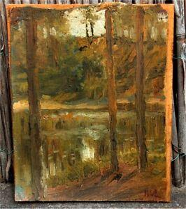 Top Ölstudie 19. Jht. +++Landschaft+++Öl /Lw.+++